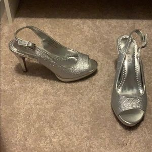 Rampage Shoes - Sparkly Silver Heels